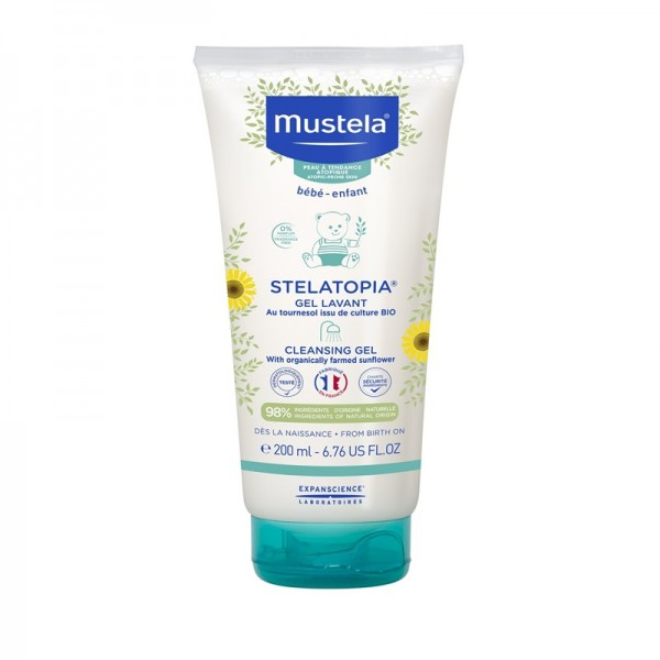 Stelatopia Gel curatator (200 ml), Mustela