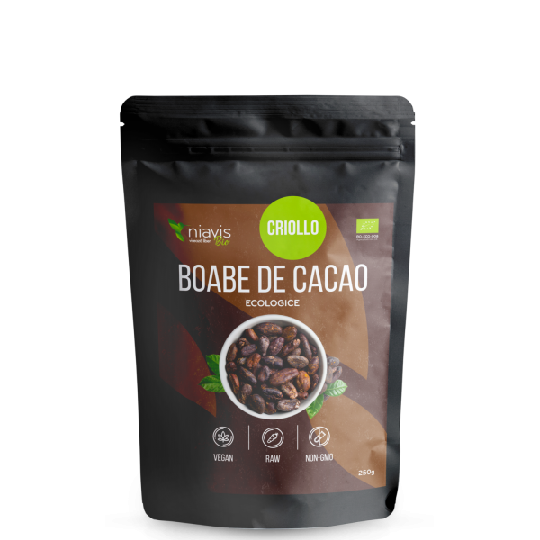 Boabe cacao intregi organice BIO (250 grame)