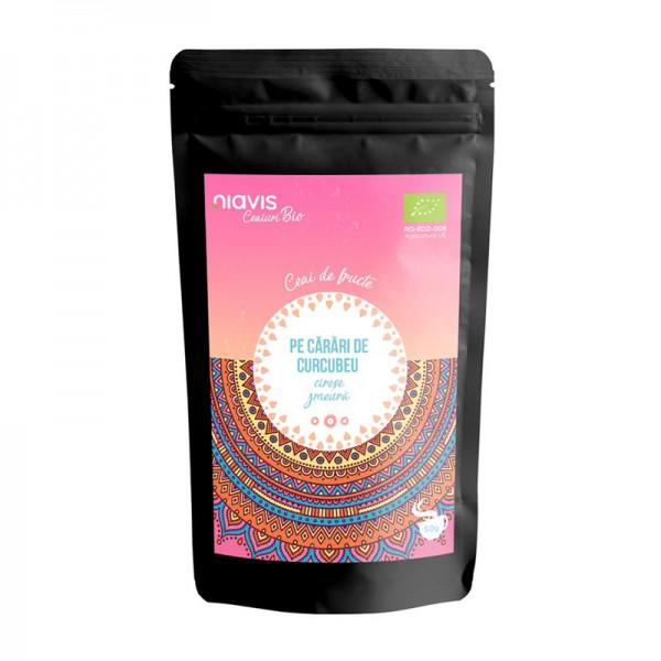 """Ceai ecologic/BIO """"Pe Carari de Curcubeu"""" (50 grame), Niavis"""