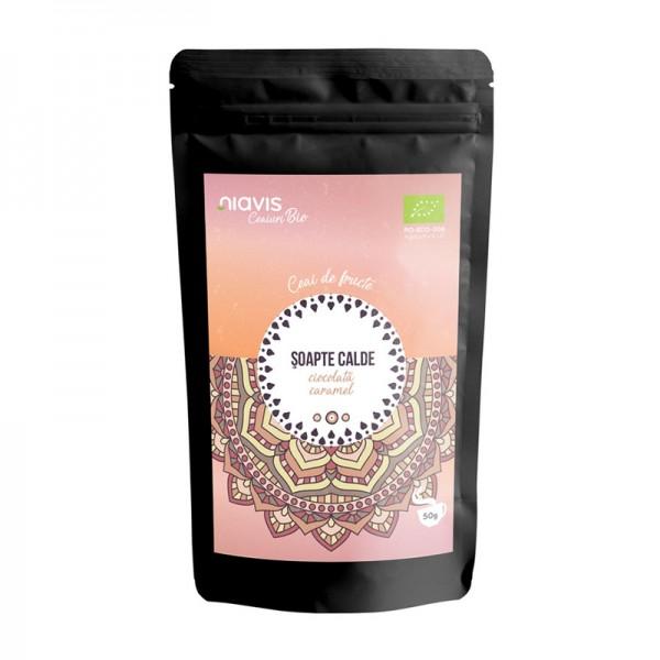"""Ceai ecologic/BIO """"Soapte Calde"""" (50 grame), Niavis"""