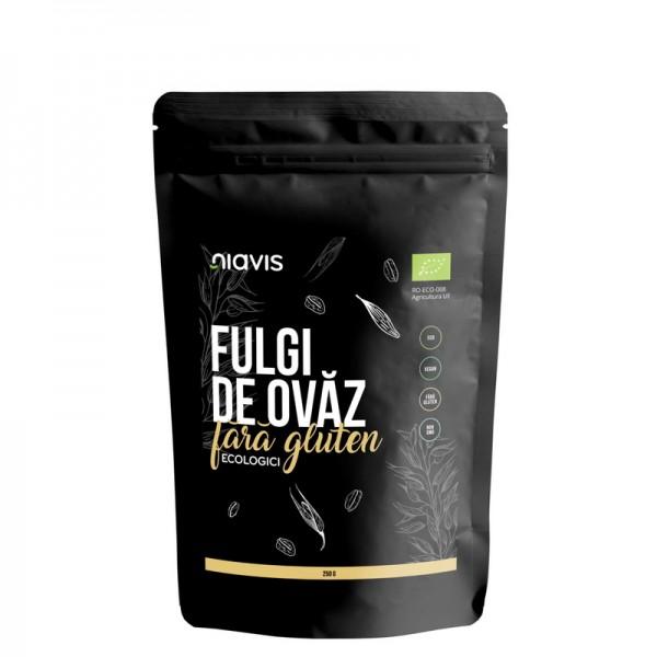 Fulgi de ovaz ecologici fini fara gluten (250 grame), Niavis