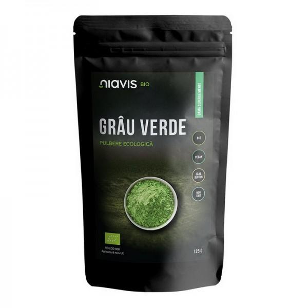 Iarba de Grau Pulbere Organica Bio (125 grame)