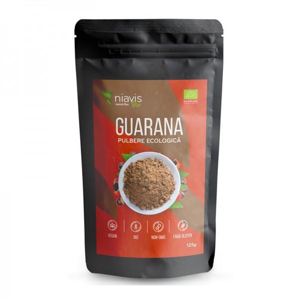 Guarana pulbere ecologica/BIO (125 grame), Niavis