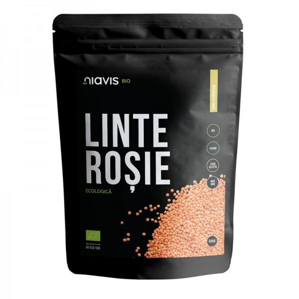 Linte rosie ecologica/BIO (500 grame), Niavis