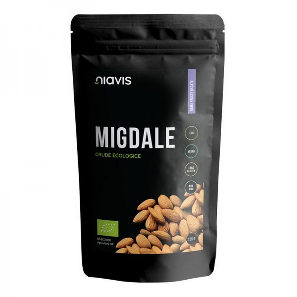 Migdale crude ecologice/BIO (125 grame), Niavis