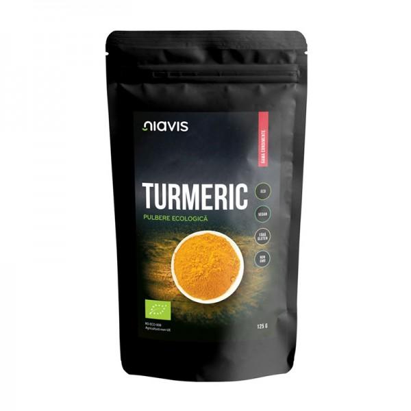 Turmeric pulbere ecologica/BIO (125 grame), Niavis