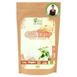 Ashwagandha pulbere raw bio (125 grame)