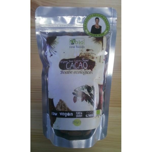 Boabe de cacao intregi bio (250 g)
