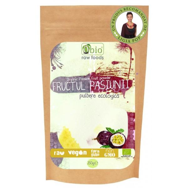 Fructul pasiunii (maracuja) pulbere raw (125 grame)