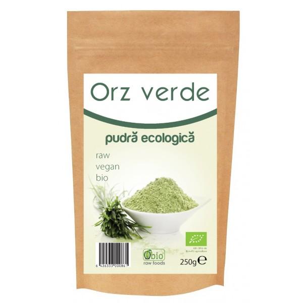 Pulbere de orz verde raw bio (250g)