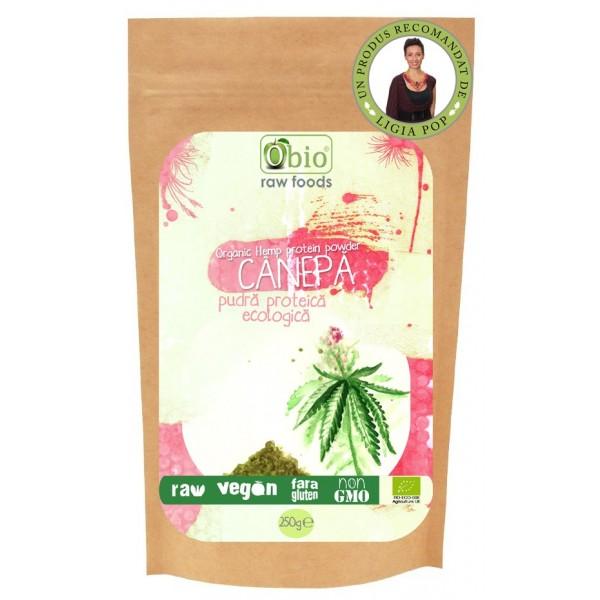 Proteina de canepa raw bio (250 grame)