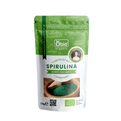 Spirulina pulbere raw bio (125 grame)