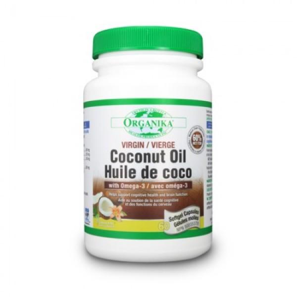 Ulei de Cocos cu Omega-3 500 mg (60 capsule gelatinoase)