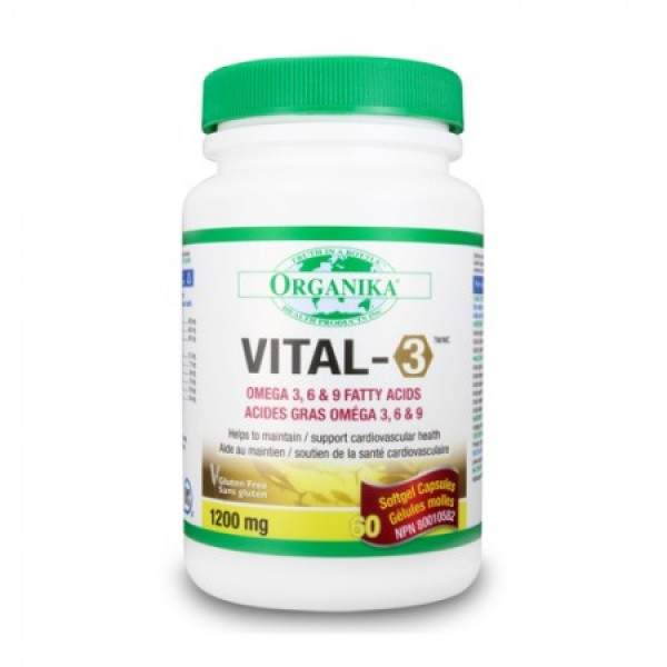 Vital 3 Complex de Omega 3, 6, 9 Organika 1200 mg (60 gelule)