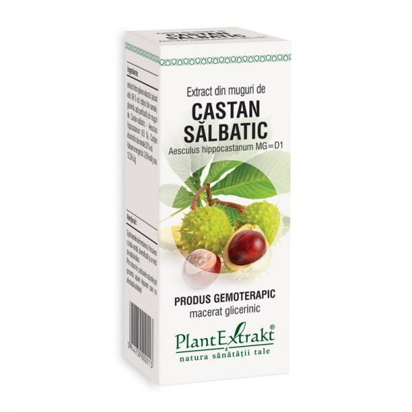 Extract din muguri de castan salbatic - Aesculus Hippo MG=D1 (50 ml), Plantextrakt