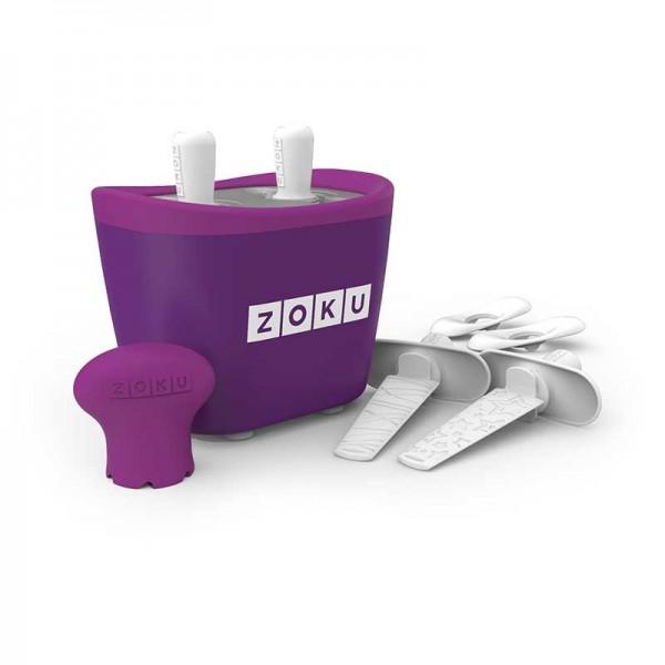 Dispozitiv pentru preparare inghetata 2 incinte Zoku ZK107 mov