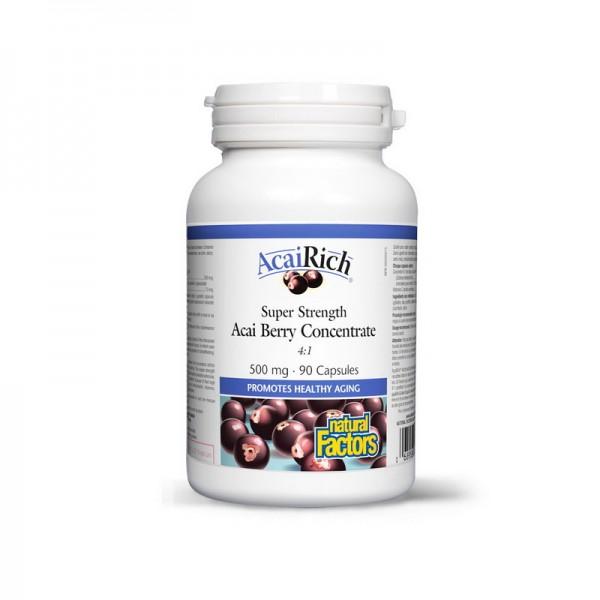 Acai Berry Pomisoare Braziliene 500 mg (90 capsule), Natural Factors