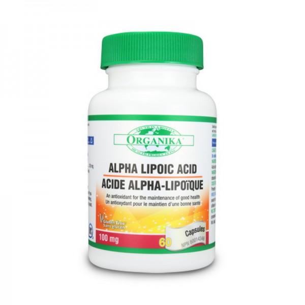 Acid Alfa Lipoic 100 mg (60 capsule), Organika Canada