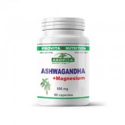 Ashwagandha cu magneziu (60 capsule), Provita Nutrition