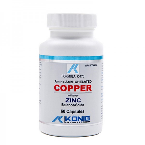 Cupru cu balanta de Zinc 5 mg (60 tablete), Konig Laboratorium