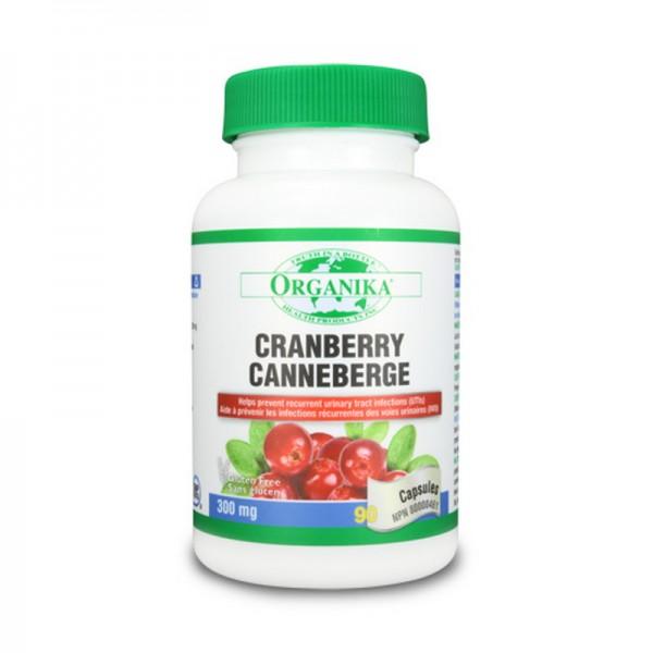 Extract concentrat de cranberry 300 mg (90 capsule), Organika Canada