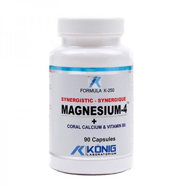 Magneziu sinergistic cu Calciu coralier și Vitamina B6 (90 tablete), Konig Laboratorium