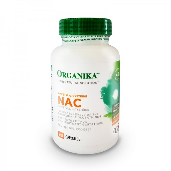 NAC N-acetil-cisteina 500 mg (90 capsule), Organika Canada