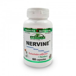 Nervine pentru stres, insomnie, anxietate (60 capsule), Provita Nutrition