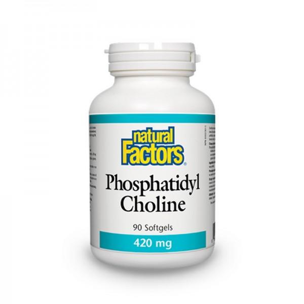 Fosfatidilcolina 420 mg (90 capsule), Natural Factors