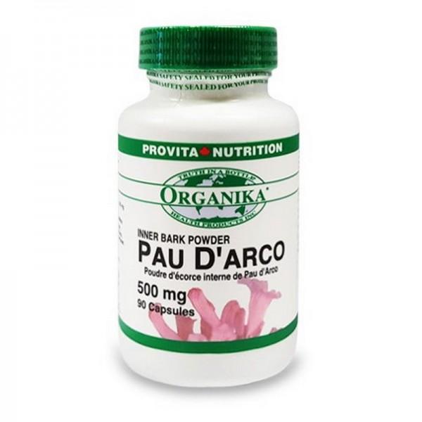Pau d'Arco 500 mg (90 capsule), Organika Canada