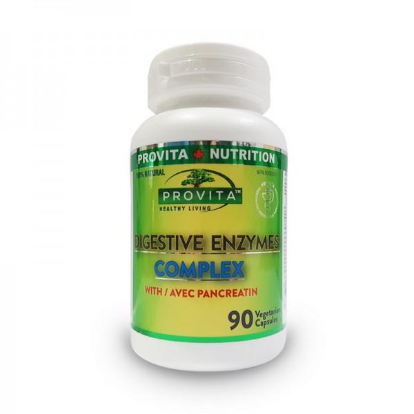 Complex enzime digestive (90 capsule), Provita Nutrition