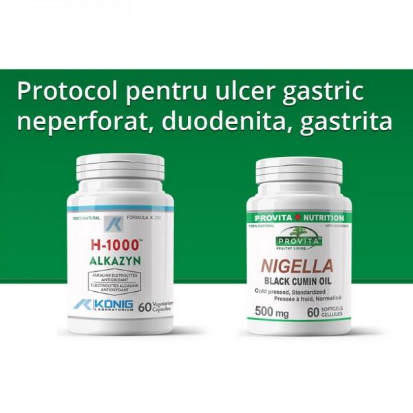 Protocol pentru ulcer gastric neperforat, duodenita, gastrita, Provita Nutrition