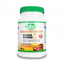 Vitamina C 500 supertamponata cu bioflavonoizi si rutina (90 capsule), Organika Canada