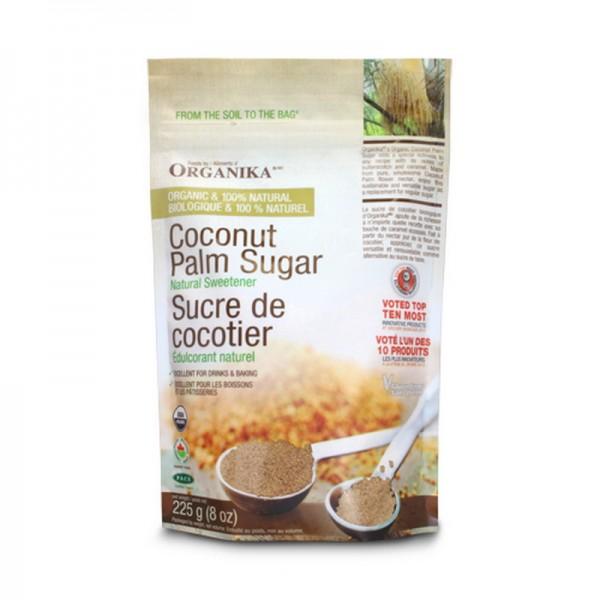 Zahar brun ecologic din palmier de cocos (225 grame), Organika Canada