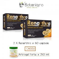 Duo Pack Renarthro x 60 capsule ( Cadou Biomedicus Artrogel Forte 250 ml)