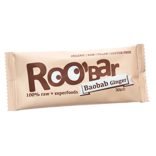 Baton raw bio cu baobab si ghimbir (30g)