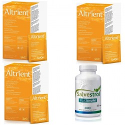 Protocol imunoterapie Salvestrol Platinum (90 capsule) + 3 x Altrient C Vitamina C Lipozomala 1000 mg (30 pliculete)