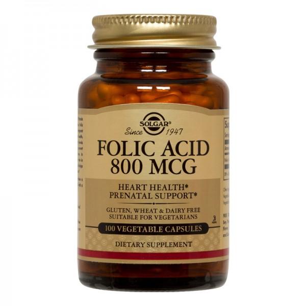 Folacin (Folic Acid) 800mg (100 tablete), Solgar