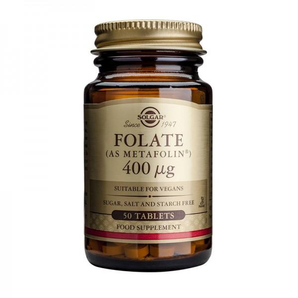 Folate (as Metafolin) 400mcg (50 tablete), Solgar