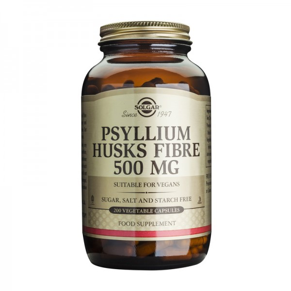Psyllium Husks Fibre 500mg (200 capsule), Solgar