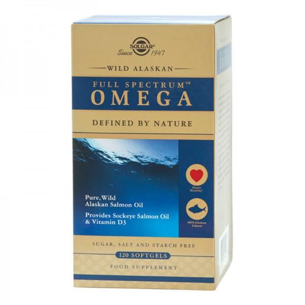 Spectru complet Omega din somon salbatic de Alaska (120 capsule), Solgar
