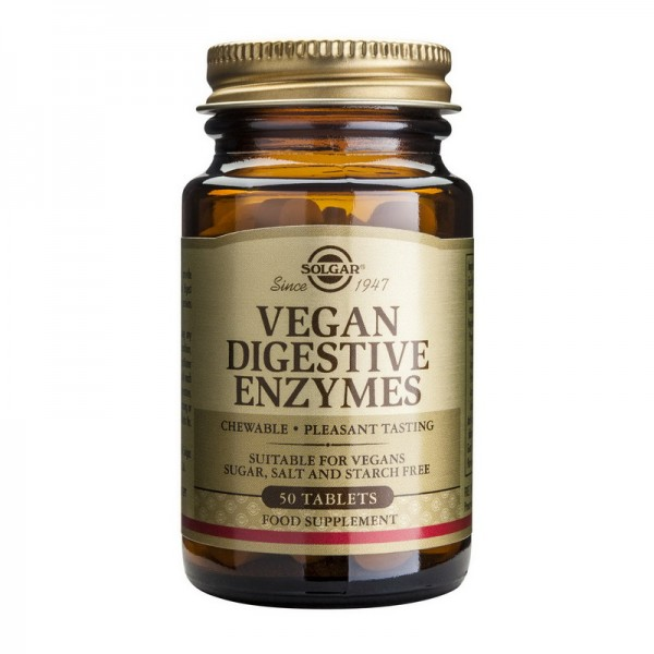 Vegan Digestive Enzymes (50 tablete), Solgar