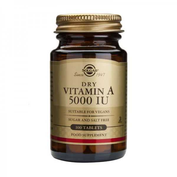 Vitamin A 5000IU (100 tablete), Solgar