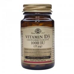 Vitamin D-3 1000IU chewable (100 tablete), Solgar