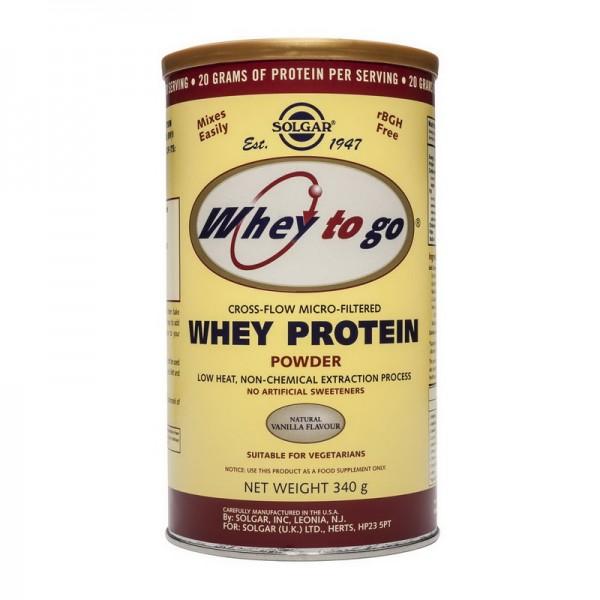 Whey to go protein vanilla powder (340 grame), Solgar