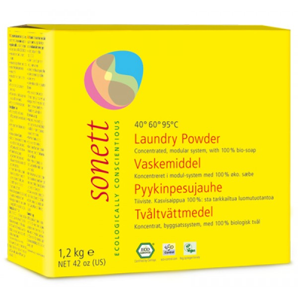 Detergent ecologic praf pentru rufe (1.2 kg)