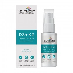 Neutrient™ D3+K2 2000UI+75µg Vegan Oral Spray (20 ml)