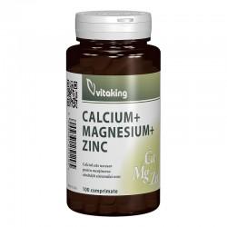 Calciu-Magneziu cu Zinc (100 comprimate), Vitaking