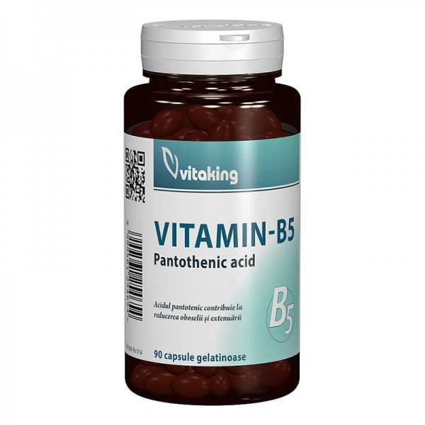 Vitamina B5 Acid Pantotenic 200 mg (90 comprimate), Vitaking