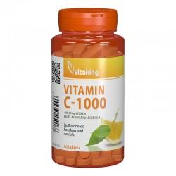 Vitamina C 1000 mg cu bioflavonoide, acerola si macese (90 comprimate), Vitaking
